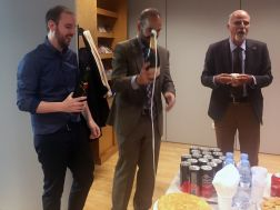 Champagne! With the new Dr. López-Moreno and Prof. Prato