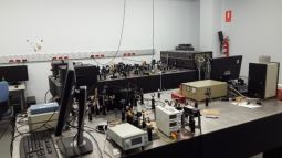 Femtosecond Spectroscopy laboratory at IMDEA Nanociencia.